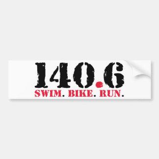 140,6 Schwimmen-Fahrrad-Lauf Autoaufkleber