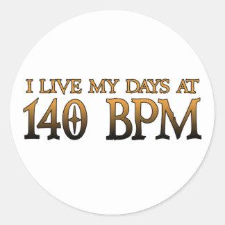 140 BPM-Tage DUBSTEP Runde Sticker