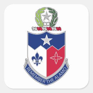 141st Infanterie-Regiment - erinnern Sie sich das Quadratischer Aufkleber
