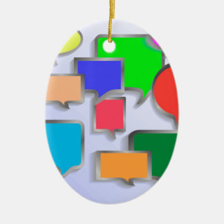 147Speech Bubbles_rasterized Keramik Ornament