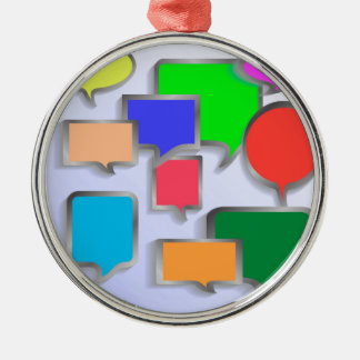 147Speech Bubbles_rasterized Silbernes Ornament