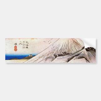 14. 原宿, 広重 Hara-juku, Hiroshige, Ukiyo-e Autoaufkleber