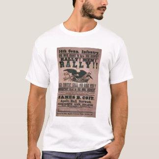 14. Connecticut-Infanterie-Einstellungs-Plakat T-Shirt
