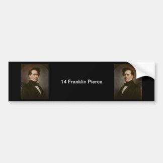 14 Franklin Pierce Autoaufkleber