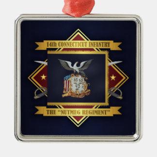 14. Freiwillige Infanterie Connecticuts Silbernes Ornament