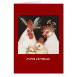 (#14) Huhnfamilie Weihnachtskarte Grußkarte