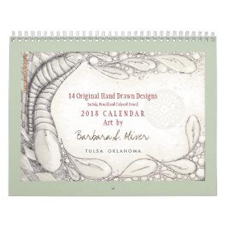 14 ursprüngliche Zeichnungen, Kalender 2018