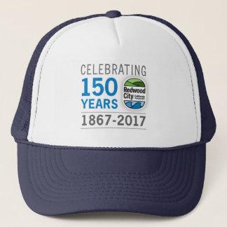 150. Jahrestag Redwood City Truckerkappe