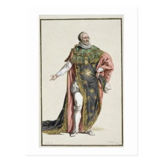 (1553-1610) König Henri-IV Frankreich, von Postkarte