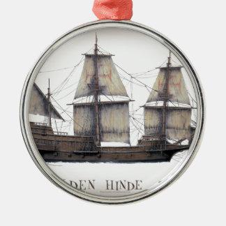 1578 goldenes Hinde Silbernes Ornament