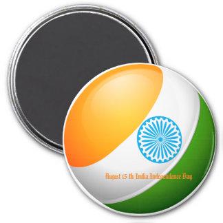 15. August Indien-Unabhängigkeitstag Runder Magnet 7,6 Cm