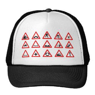 15 Dreieck-Verkehrszeichen Trucker Mütze