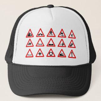 15 Dreieck-Verkehrszeichen Truckerkappe