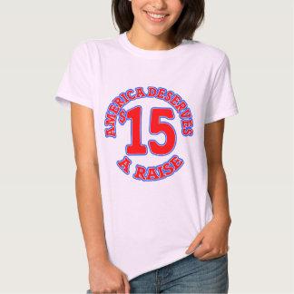 15 ein STUNDE Mindestlohn Hemd