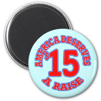 15 ein STUNDE Mindestlohn Magnets
