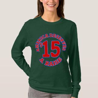 15 ein STUNDE Mindestlohn T-Shirt