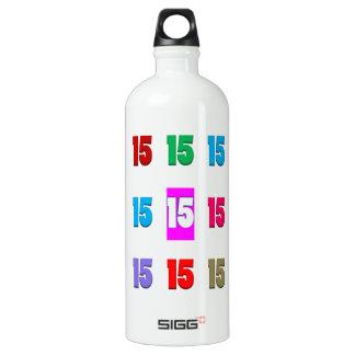 15. fünfzehntes Geburtstagsjahrestags-Straßendatum Wasserflasche