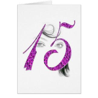 15 Jahre alte Mädchen-Schönheits-Gruß-Karten-