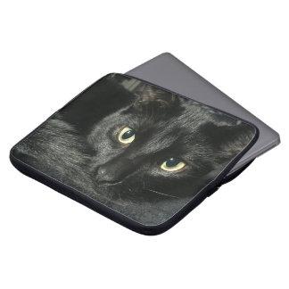 """15"""" Laptopkasten mit schwarzer Katze Laptop Sleeve"""