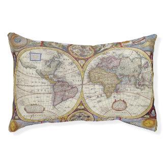 1626 Vintage Weltkarte Haustierbett