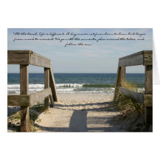 """163_6335, """"am Strand, Leben ist unterschiedlich. Karte"""