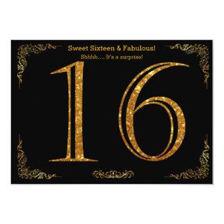 16., 16. Geburtstag, Geburtstags-Party, schwarzer Karte