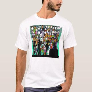 16 Block-Zeitschriften-Musik-Frage T-Shirt