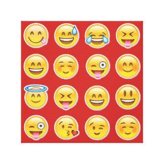 16 emojis leinwanddruck