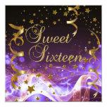 16. Geburtstag 16 Geburtstags-Party-lila Personalisierte Einladungen