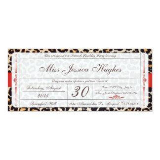 16. Geburtstag-Damast-Karten-Einladung 10,2 X 23,5 Cm Einladungskarte
