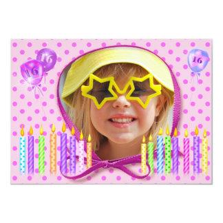 16. Geburtstag-Einladung 11,4 X 15,9 Cm Einladungskarte