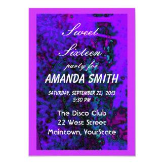 16. Geburtstag-Einladungs-Juwelen 11,4 X 15,9 Cm Einladungskarte