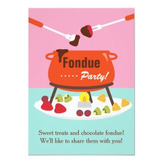 16. Geburtstag-Fondue-Geburtstags-Party 11,4 X 15,9 Cm Einladungskarte