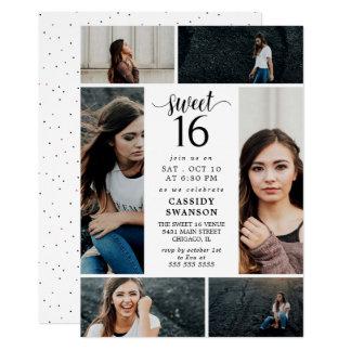 16. Geburtstag-Foto-Collage Karte