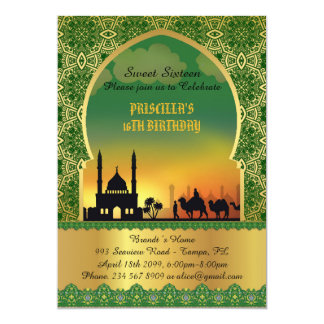 16. Geburtstag, Geburtstag, Einladung, arabische Karte