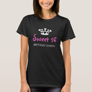 16. Geburtstag-Geburtstags-Königin - Fuchsie T-Shirt