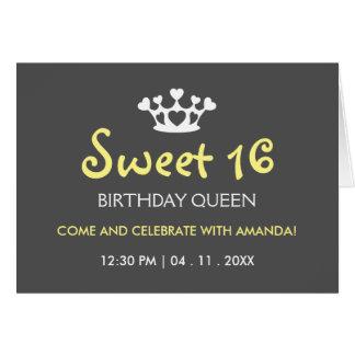16. Geburtstag-Geburtstags-Königin - laden Sie Karte
