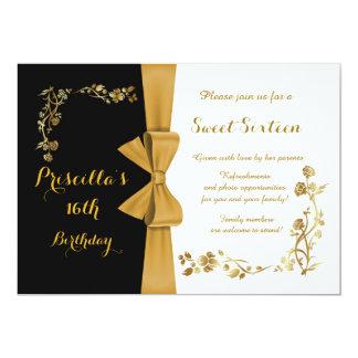 16. Geburtstag-Geburtstagseinladung, 16., Gatsby 12,7 X 17,8 Cm Einladungskarte