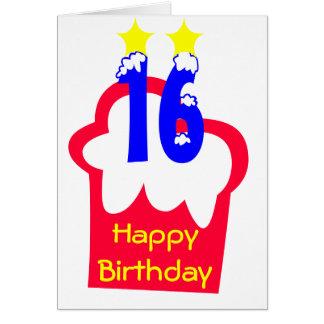 16. Geburtstag Karte