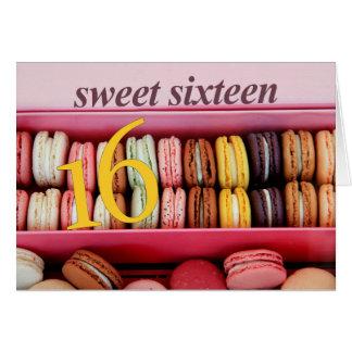 16. Geburtstag-Party Einladung macaron