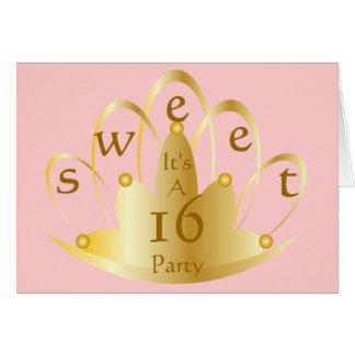 16. Geburtstag Party-Fertigen besonders an Karte