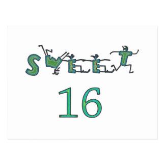 16. Geburtstag Postkarte