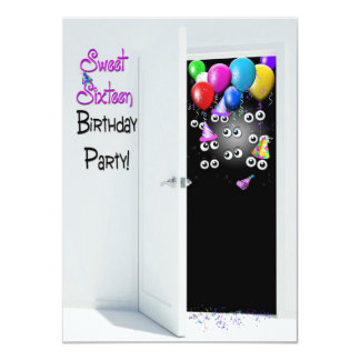 16. Geburtstag-Überraschungs-Party Einladungen