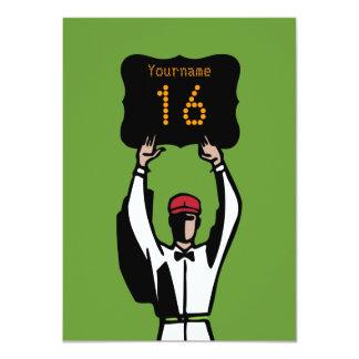 16. Geburtstags-Fußball-Party Einladung - 11,4 X 15,9 Cm Einladungskarte