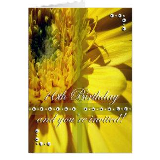 16. Geburtstags-Gänseblümchen-Einladung Karte