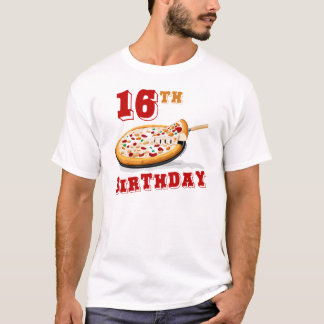 16. Geburtstags-Pizza-Party T-Shirt