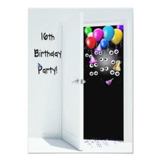 16. Geburtstags-Überraschungs-Party Personalisierte Ankündigungskarte