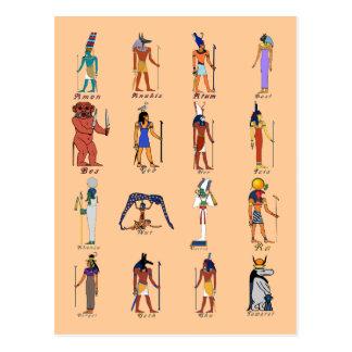 16 Götter Postkarte
