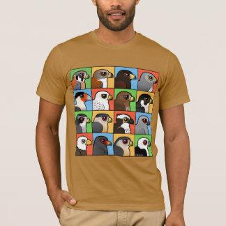 16 nordamerikanische Raubvogel-Profile T-Shirt