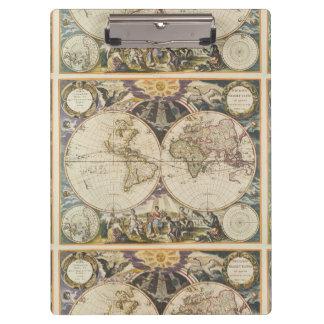 1702 eine neue Karte der Welt Klemmbrett